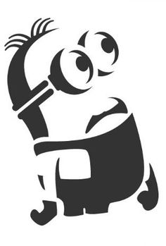 40 Pumpkin Carving Printables to Upgrade Your Jack-O'-Lantern Game via Brit + Co. Pumpkin carving disney 40 Pumpkin Carving Printables to Upgrade Your Jack-O'-Lantern Game Stencil Patterns, Stencil Art, Animal Stencil, Stencil Templates, Stencil Designs, Minion Stencil, Minion Pumpkin Stencil, Pumpkin Carving Disney Stencils, Pumkin Stencils