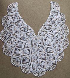 Blue Curacao Gauge – 4 rows of shell pattern = approx Crochet Thread Patterns, Crochet Bolero Pattern, Col Crochet, Crochet Cape, Crochet Collar, Shawl Patterns, Filet Crochet, Lace Patterns, Diy Crafts Crochet