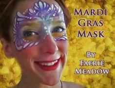 DIY Halloween Makeup : DIY Mardi Gras Mask Face Painting Design