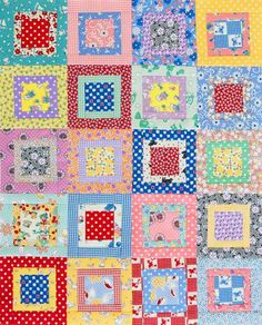 Scrappy Charm Squares...use with my scrap stash. The inside squares could be different sizes.