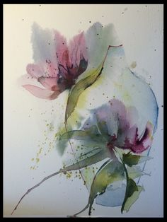 Eva Kanje Boman - Blommor vas akvarell 20×30