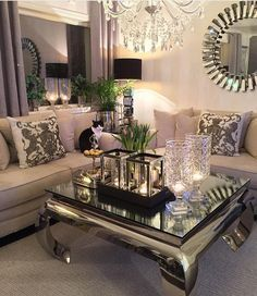 "5,843 Likes, 36 Comments - Interior & Design Inspiration (@classyinteriors) on Instagram: ""Lovely living room Credit: @monicas_home ✨ ▫️ ▫️ ▫️ ▫️ ▫️ #classyinteriors #interiordesign…"""