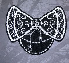 EGL Gothic Lolita Bow Iron On Embroidery Patch by MTthreadz, $8.00