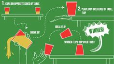 8 Great Easy Drinking Games For Every Party Flip Cup Drunk Games, Beer Games, Cup Games, Easy Drinking Games, Drinking Games For Parties, Outdoor Drinking Games, Christmas Drinking Games, College Party Games, Adult Party Games