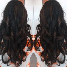 long dark brown hairstyle Chocolate Brown Hair Color, Brown Hair Colors, Chocolate Brown Highlights, Dark Brown Hair With Highlights Balayage, Espresso Hair Color, Subtle Highlights, Chocolate Hair, New Hair Colors, Hair Highlights