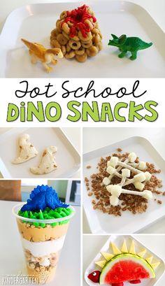 Tot School: Dinosaurs - Mrs. Plemons' Kindergarten Dinosaur Snacks, Dinosaur Theme Preschool, Preschool Cooking, Dinosaur Activities, Preschool Snacks, Preschool Themes, Preschool Crafts, Dinosaur Birthday, Dinosaur Crafts For Preschoolers