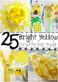25 Bright Yellow Crafts for Preschoolers. Learn about this primary color and all the fun words associated with it! Click now!