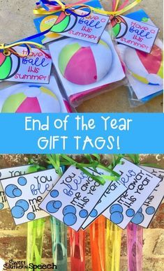 These end of the year gift tags are perfect for teachers to give to their students to celebrate the end of school!