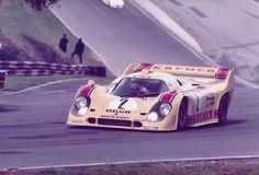 1981 Brands Hatch 1000klm. entered by Porsche Kremer racing ,Porsche 917K , driven by Bob Wollek / Henri Pescarolo , DNF>suspension .:
