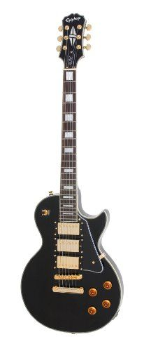 Epiphone Les Paul Custom Pro Electric Guitar with ProBuckers and Coil Tapping, Ebony Epiphone Les Paul, Les Paul Custom, Best Acoustic Guitar, Cool Guitar, Les Paul Black Beauty, Cheap Guitars For Sale, Guitar Reviews, Custom Electric Guitars, Thing 1