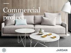 family-owned, Australian furniture supplier Jardan - Jardan's Sky sofa, Horizon ottoman and Fred coffee tables