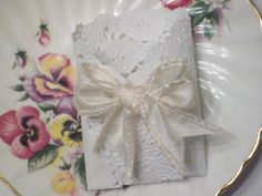 TEA PARTY FAVOR Envelope / Pocket  For by FlowerfulCreationEtc, Etsy, ║✿ pinned by Colette's Cottage✿