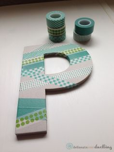 Delineate Your Dwelling | Letter P with washi tape