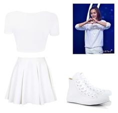 """""""Yoon Jeonghan"""" by k-pop21 ❤ liked on Polyvore featuring Topshop and Converse"""