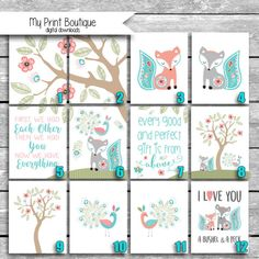 LIMITED TIME ONLY - Digital Files Sent Via Email - Levtex Baby Fiona Fox Crib Bedding - Printable Nursery Art jpgs