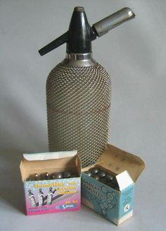 .sifonová láhev s bombičkami