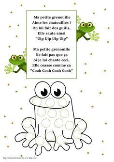 """Résultat de recherche d'images pour """"comptine grenouille paroles"""""""