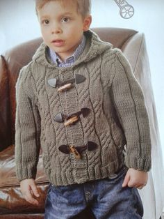 Cómo acer este c Knitting For Kids, Baby Knitting, Little Ones, Knit Crochet, Men Sweater, Pullover, Pattern, Sweaters, Fashion