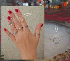 Circle Ring Midi rings Band Ring. 925 Sterling by SilverTrend4U