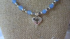 Sterling Silver Heart and Agate Necklace by SerenityoftheSouth