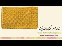 Punto arroz tejido en ganchillo tunecino - YouTube