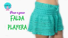 Tutorial falda playera a crochet