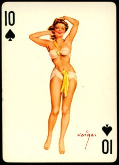Alberto Vargas - Pin-up Playing Cards (1950) - 10 of Spades