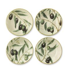 Olive Branch Individual Bowls, Set of 4 #williamssonoma Doesn't have to be this design...just want pasta bowls!