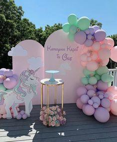 Unicorn Party, Unicorn Birthday, Girl Birthday, Sweet 16 Birthday, First Birthday Shirts, 16th Birthday Gifts, Birthday Parties, Gold Party Decorations, Birthday Decorations