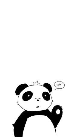 흑백의 Panda Love, Red Panda, Cute Panda, Kawaii, Panda Party, Illustrations, Cute Illustration, Spirit Animal, Pet Birds