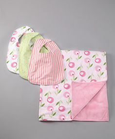Take a look at this Tulip Bib & Blanket Set by Trend Lab on #zulily today!