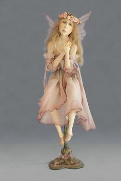 ~Tine Kamerbeek~ Handmade Angels, Handmade Dolls, Fairy Dolls, Dolls Dolls, Doll Costume, Costumes, Call Art, Baby Dragon, Paperclay