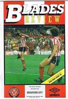 Sheffield United V Bradford City 28 03 87 Bramall Lane Football Programme | eBay