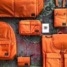 Bag specialist #Porter launched a limited edition of its #Tanker bags in bright orange.