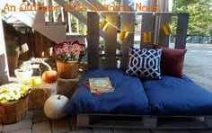 Such a cool outdoor space to sit, read etc with kids or animal or just yourself,... AWESOME