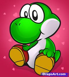 how to draw baby yoshi