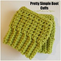 Free Crochet Pattern for Pretty Simple Boot Cuffs. The crocheted cuffs are given in one size, but can be adjusted to any size needed from toddler to adult.