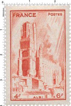 France Stamp - Cathédrale d'Albi (1944)