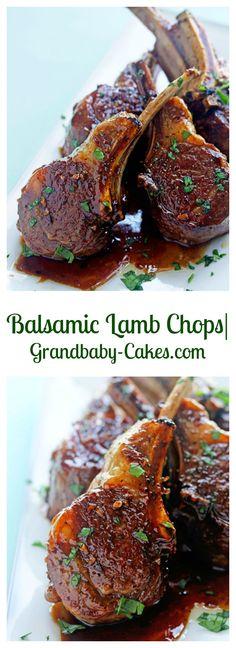 Balsamic Lamb Chops | Grandbaby-Cakes.com
