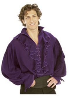 Pirates of the Seven Seas Purple Linen Pirate Shirt - Adult Standard, Pirates of the Seven Seas Purple Cotton Pirate Shirt Costume includes One purple cotton shirt. Comes in Men's Standard and X-Large. Lila Shirts, Mens Tunic, Puffy Shirt, Vampire Costumes, Pirate Costumes, Steampunk Men, Purple Halloween, Pirate Shirts, Coupon