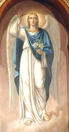 @solitalo Amado Gabriel Arcángel, bendito ser de luz, gloriosísimo ángel de la paz y la esperanza, fiel y noble mensajero del Padre Eterno y dulce y tierno amparo de nosotros los hombres, hoy te in…