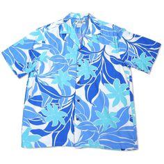 Sea Breeze Blue Hawaiian Rayon Shirt  #hawaiian #madeinhawaii