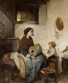 Pane e lacrime by Domenico Induno (1855)