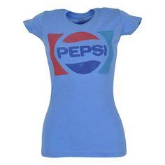 Pepsi Cola Brand Soda Pop Novelty Women Ladies Tshirt Tee Shirt Bottle Drink