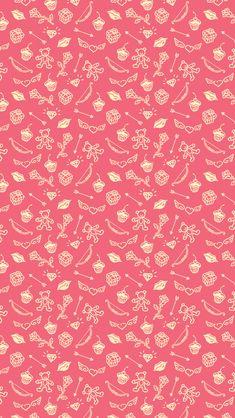 Saint Valentines Cute Things Pattern IPhone 5 Wallpaper