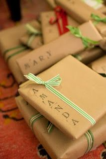 Brown paper Xmas gift wrapping ideas
