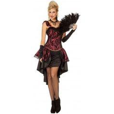 Saloon Girl Nancy Burlesque Kostüm