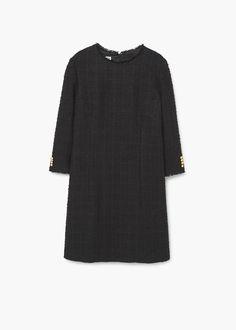 50 Vestido recto textura | MANGO