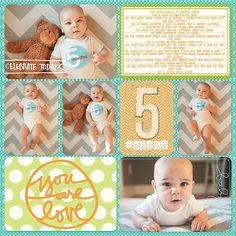 Jase's Baby Scrapbook – Completed! Baby Boy Scrapbook, Paper Bag Scrapbook, Baby Scrapbook Pages, Project Life Scrapbook, Project Life Layouts, Birthday Scrapbook, Pocket Scrapbooking, Scrapbook Supplies, Scrapbooking Ideas