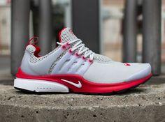 Nike Air Presto Sneskers Femme - Homme Gris Neutre/Rouge Université/Blanc  http:
